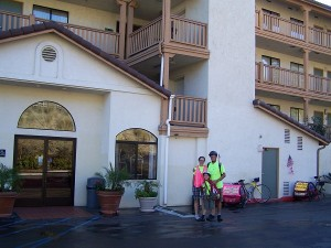 Leaving the Quality Inn in El Cajon